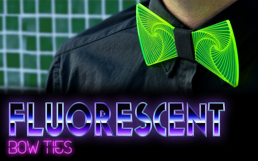 Fluorescent bow ties