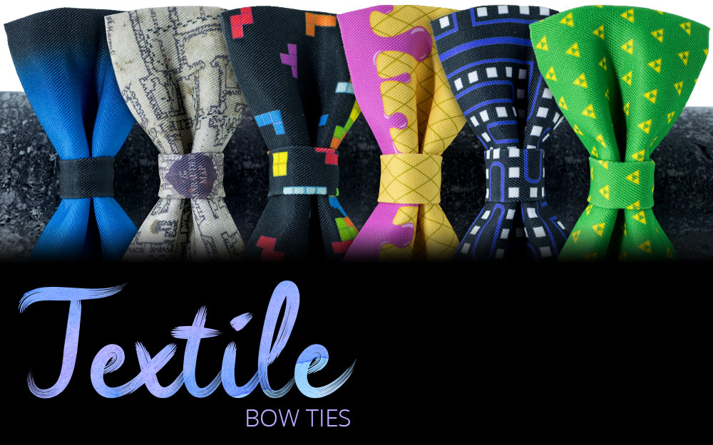 Textile bow ties